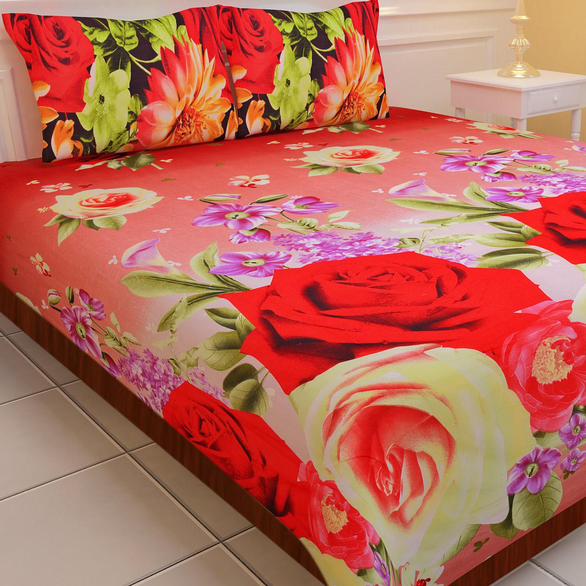 Buy Luxury Queen 5 Extra Soft 3D Print Double Bedsheets ...